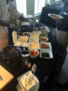 Plenty to choose from at the build your own omelette bar