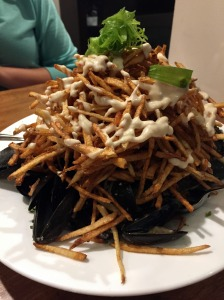Mussels and frites with aioli at Lobster Pound
